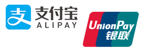 Alipay and UnionPay payments accepted